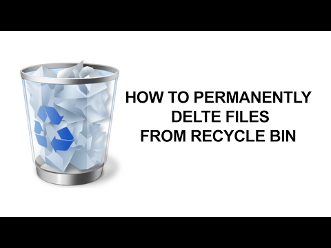 How to Permanently Delete files and folders from Recycle Bin in Windows