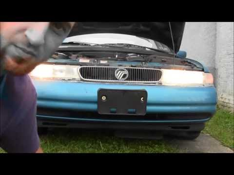 How to Remove Install Headlight On 1997 Ford Contour / Mercury Mystique