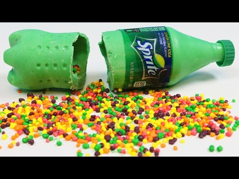 How to Make CHOCOLATE SPRITE BOTTLE Filled with Rainbow Nerds Candy!