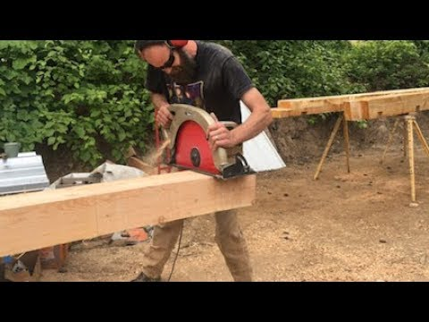 Timber Framing with Nick Fouch -- Chain Mortiser Demo + Tie Beam from Milling to Frame Raising