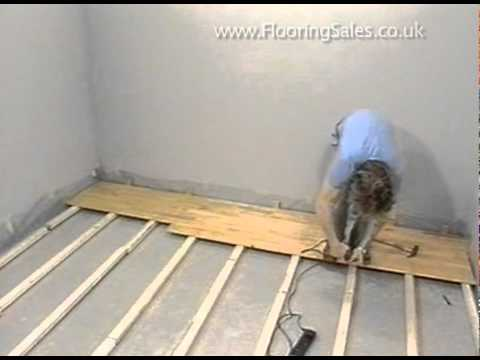 Junckers - Laying a floor over batons