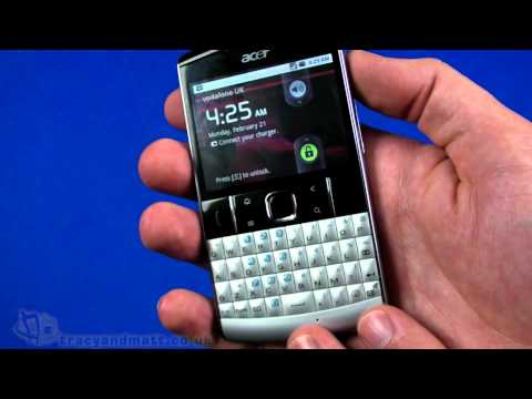 Acer beTouch E210 unboxing video
