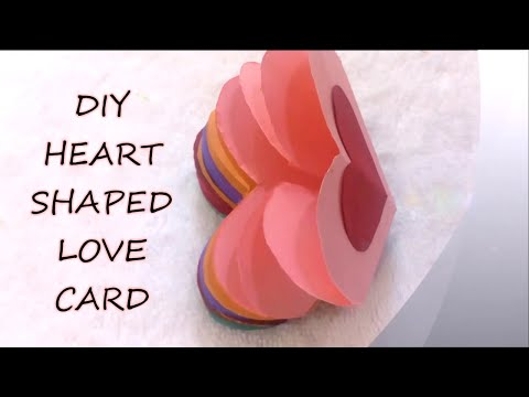 HOW TO MAKE HANDMADE HEART SHAPE LOVE CARD | FOR | BOYFRIEND/HUSBAND/GIRLFRIEND | DIY CARD