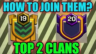 OMG {Join these top clans and let's compare top 2 clans of clash of clans}..