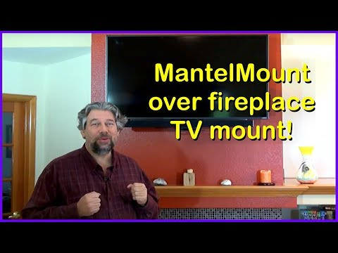 TV over the fireplace? MantelMount has you covered!