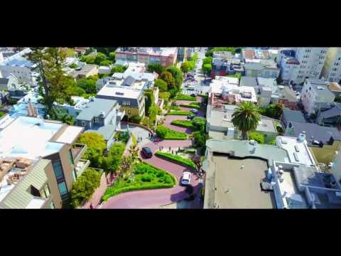 DJI Mavic Pro in Lombard St San Francisco