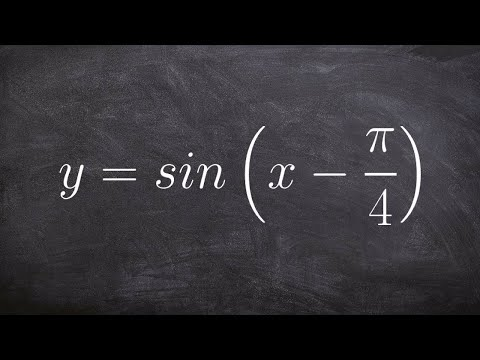 Graphing Sine with a Phase Shift