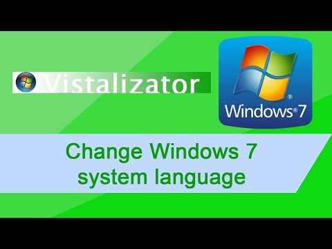 How to: Change Windows 7 system language with Vistalizator (1080p)