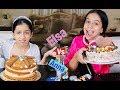 السا ضد انا ! تحدي تزيين الكيك !!! Elsa vs Anna ! Cake Decorating Challenge