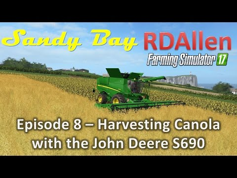 Farming Simulator 17 MP Sandy Bay E8 - Harvesting Canola with the S690