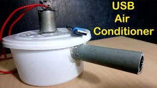 How To Make a USB Air Conditioner ( AC ) Simple Way