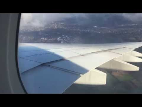 Emirates A380 takeoff from manchester to dubai