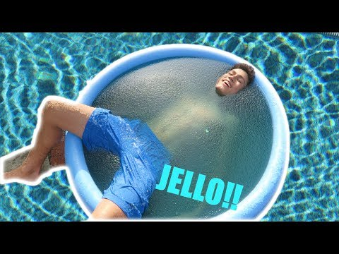 FILLING MY ENTIRE POOL WITH JELLO!!