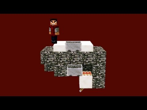 Minecraft Tutorial: Going Up Through the Nether Ceiling with Minecarts