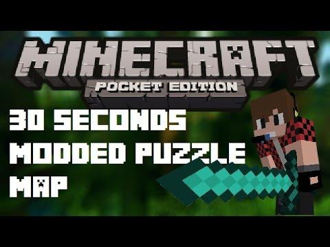 30 seconds walkthrough modded puzle map | Minecraft PE