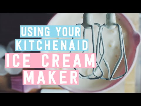 Using your KitchenAid Ice Cream Maker
