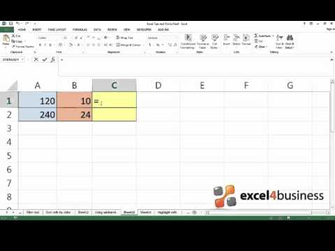 How to Divide Numbers in Excel