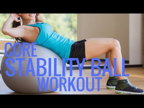Core Exercise Ball Workout - Stability Ball Exercises - Christina Carlyle