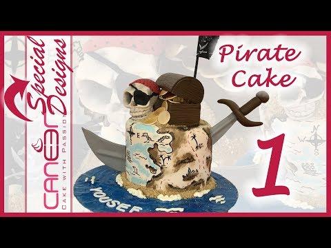 How to make a Pirate Treasure  cake 1/2
