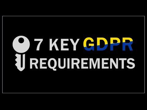 7 Key GDPR Requirements