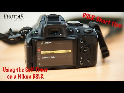 Nikon D5100 short tips: Setting the self timer