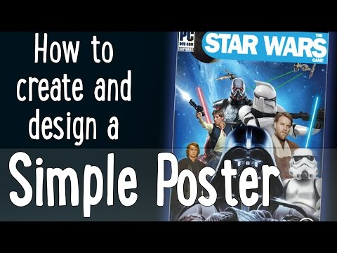 How to create a simple (Star Wars Themed) Game Poster Using Photoshop CC [Beginner Difficulty]
