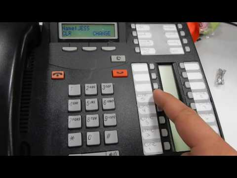 Changing a name on a Norstar Phone using the TUI