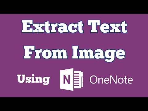 Extract text from Images/Pictures with OCR Tool in Microsoft Office OneNote