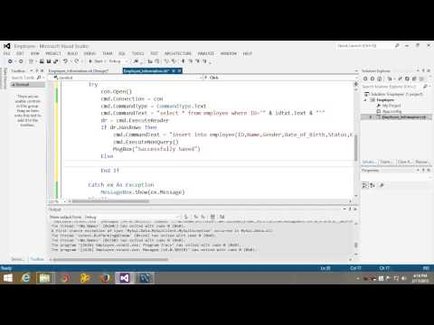 Visual Basic Net Tutorial with MySql database 7 How to check Duplicate Entry