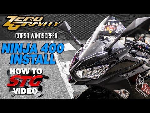 Zero Gravity Kawasaki Ninja 400 Corsa Windscreen Install | Sportbike Track Gear