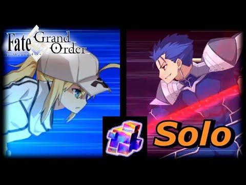 [FGO NA] Saber Wars: Challenge Quest - Ultra Heroine Z - Cu Solo