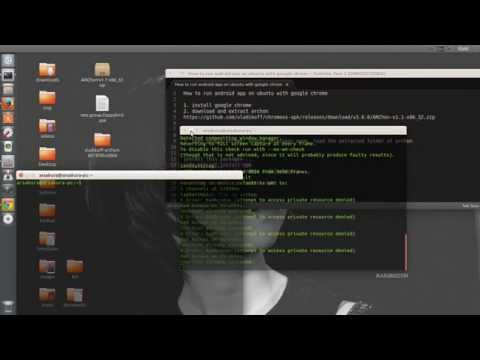 How to install android app on ubuntu or linux
