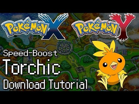 Pokemon X and Y - How To Download Event Torchic with Speed-Boost and Blazikenite!  Limited Edition!