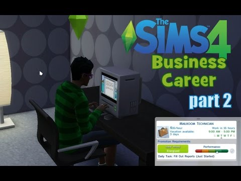 The Sims 4: Business Career part 2 - Brisk showers, girls, reports and promotion