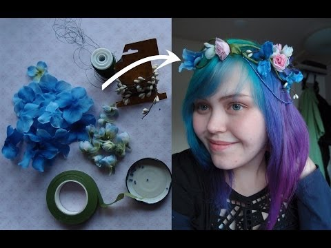 How to make a bohemian (bridal) flower crown