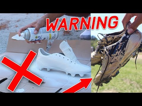 WARNING: DON'T SPRAY PAINT YOUR SHOES/ CLEATS!