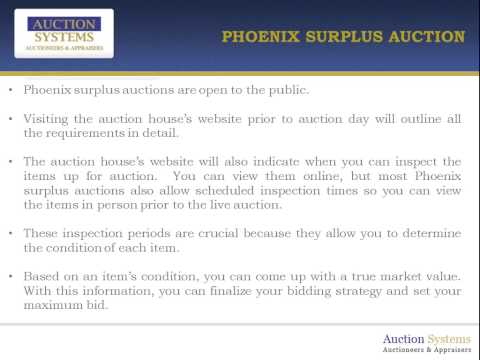Phoenix Surplus Auction - Getting a Deal on Unwanted City Property
