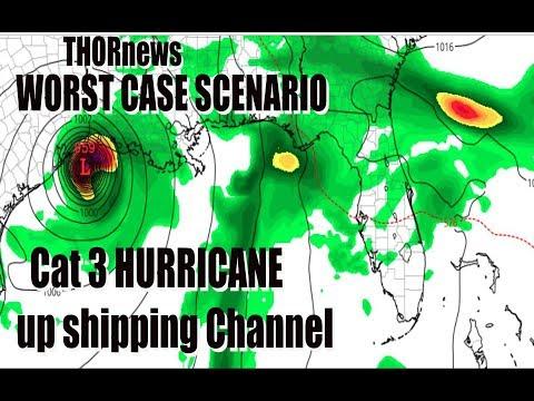 Cat 3 Hurricane in HOUSTON TEXAS June 15th - WORST CASE SCENARIO