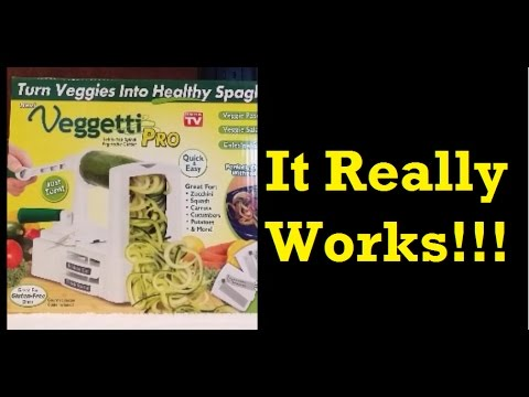 Amazon Product Review -  The Veggetti Pro - As Seen on TV Review - IT WORKS!