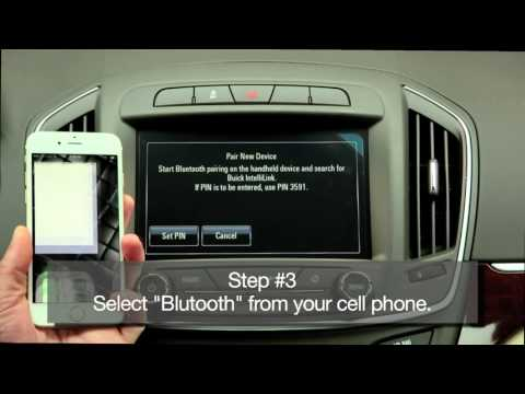 How To Pair a Cell Phone on a New Buick by Bluetooth