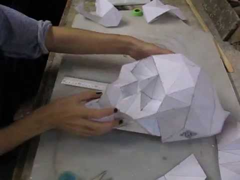 DIY FOLDING PAPER SKULL #SkullsForChange