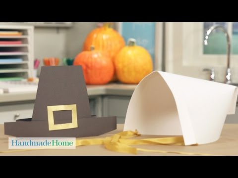 For the Kids' Table: Pilgrim Hats and Bonnets - Handmade Home - Martha Stewart