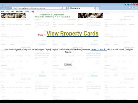How to view property card of Pune city