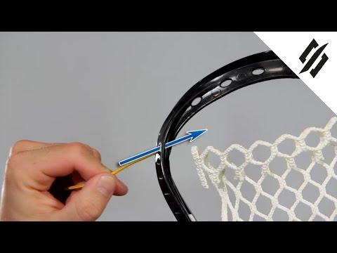 How to String a Lacrosse Head | Top String Loop Start | Step 1 | StringKing