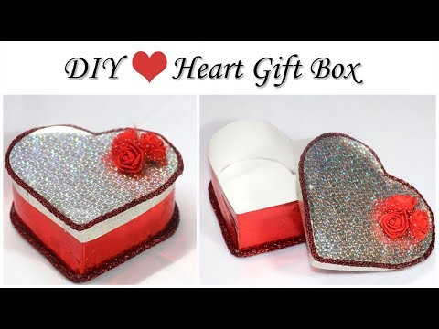 How to make Heart Shaped Box | Valentine Gift Box | DIY Gift Box with Paper and Cardboard