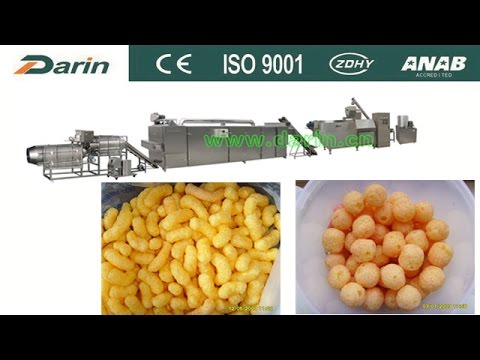 How it's made corn puff snack, cheese ball?