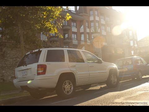 Loud Jeep Grand Cherokee engine exhaust sounds. Brutal accelerations and revving