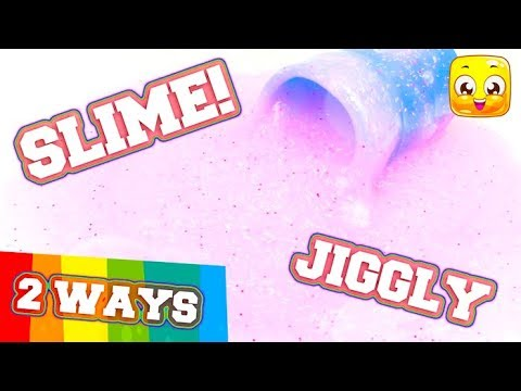 2 Ways To Make Slime without Borax or Liquid Starch! DIY Jiggly Slime No Borax Needed! Super Easy!