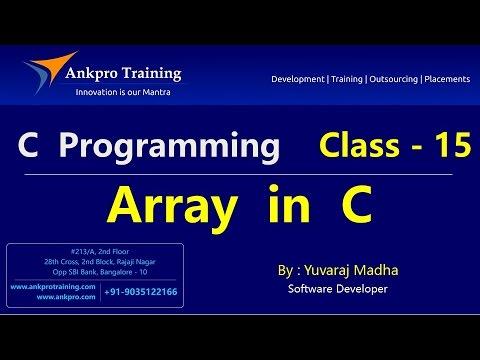 C language - Class 15 : Arrays - Part 1