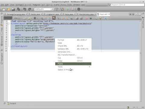 (Java Netbeans UML part 4) Simple Android Application using Generated Java Code